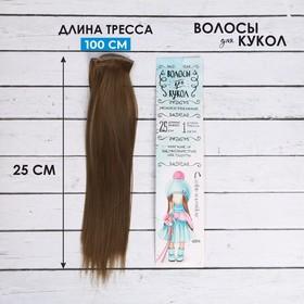 Волосы - тресс для кукол «Прямые» длина волос: 25 см, ширина: 100 см, цвет № 18Т