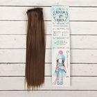 """Волосы - тресс для кукол """"Прямые"""" длина волос 25 см, ширина 100 см, цвет № 9"""