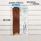 """Волосы - тресс для кукол """"Прямые"""" длина волос 25 см, ширина 100 см, цвет № 30В"""