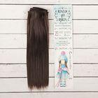 """Волосы - тресс для кукол """"Прямые"""" длина волос 25 см, ширина 100 см, цвет № 4А"""