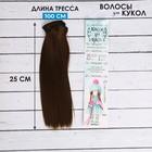 """Волосы - тресс для кукол """"Прямые"""" длина волос 25 см, ширина 100 см, цвет № 8В"""