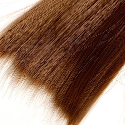Волосы - тресс для кукол «Прямые» длина волос: 25 см, ширина:100 см, цвет № 12