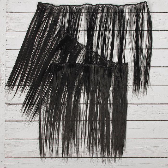 """Волосы - тресс для кукол """"Прямые"""" длина волос 25 см, ширина 100 см, цвет № 1"""