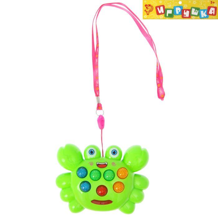 Развивающая игрушка «Крабик», световые и звуковые эффекты, МИКС