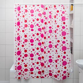 """Штора для ванной 180×180 см """"Радуга цвета"""", цвет МИКС"""