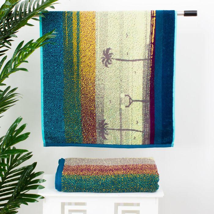 """Полотенце махровое """"Этель"""" Песчаный Закат 70*130 см, 100% хл, 420 гр/м2"""