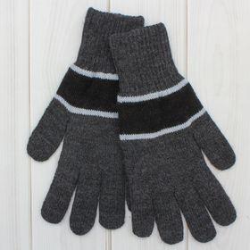 Перчатки мужские «А» 3с239, размер 20, цвет серый/чёрный/голубой Ош