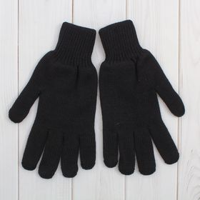 Перчатки мужские 9с50, размер 22, цвет чёрный Ош
