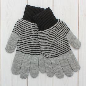Перчатки мужские «Анжу» 2с239, размер 22, цвет меланж/чёрный Ош