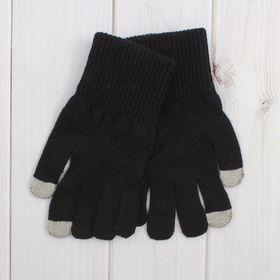 Перчатки мужские для сенсорных экранов 6с177/1, размер 20, цвет чёрный Ош