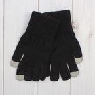 Перчатки мужские для сенсорных экранов 6с177/1, размер 22, цвет чёрный