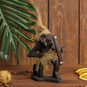 "Сувенир дерево ""Абориген-лучник"" 14х13х6 см"