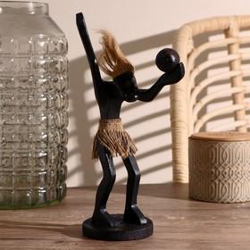 """Сувенир дерево """"Абориген-волейболист"""" 27х13х9 см"""