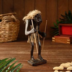 "Сувенир дерево ""Абориген-рыцарь"" 21х10х10 см"