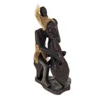 """Сувенир дерево """"Абориген-музыкант"""" 19х11х9 см"""