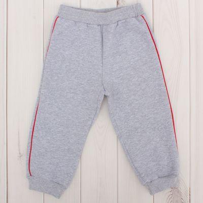 Брюки для мальчика, рост 80 см, цвет серый меланж Н804_М