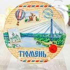 """Тарелка с сублимацией """"Тюмень. Мост"""", почтовая, 20 см"""