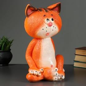"""Копилка """"Кот сидя большой"""" рыжий 15х22х41см"""