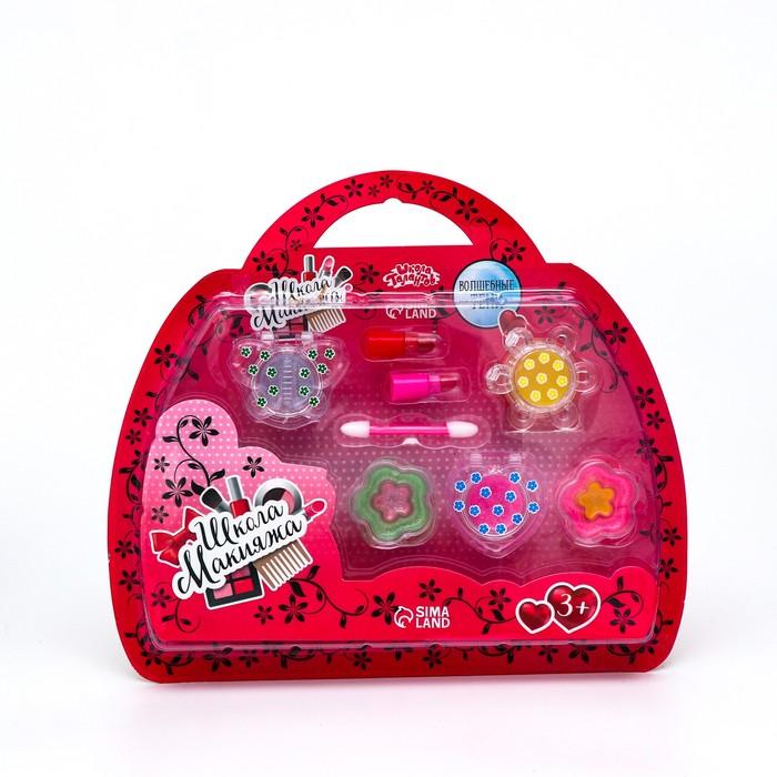 Набор косметики для девочки: блеск для губ, помада, аппликатор