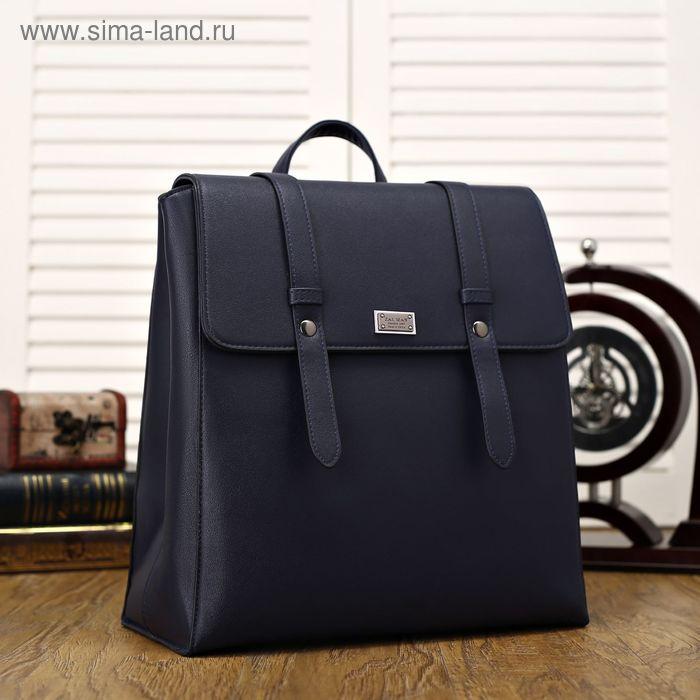 Рюкзак мол L-6674, 30*16*31, отд с перег, н/карман, синий