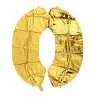 """Шар фольгированный 40"""" «Цифра 0», цвет золотой - фото 7444295"""