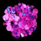 Камифубуки для декора ногтей, цвет розовый/голубой/фиолетовый