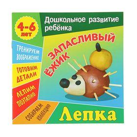 «Дошкольное развитие ребенка. Лепка. Запасливый ежик», 210 × 210 мм