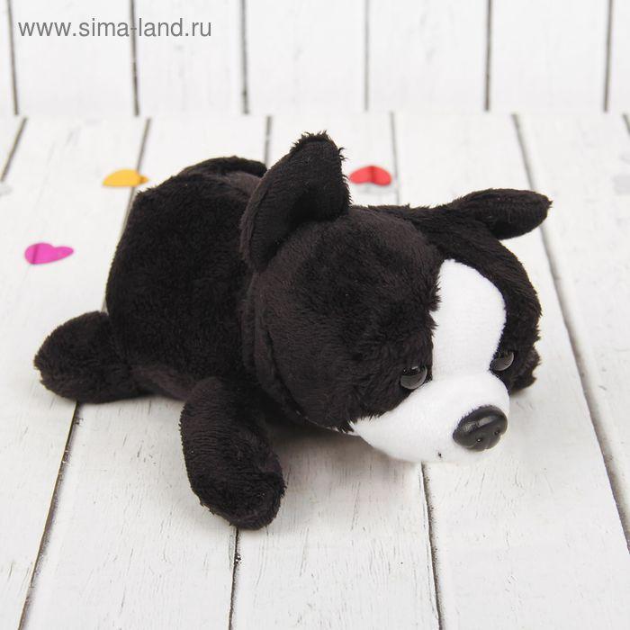 """Мягкая игрушка """"Черный пёсик"""", белая мордочка"""