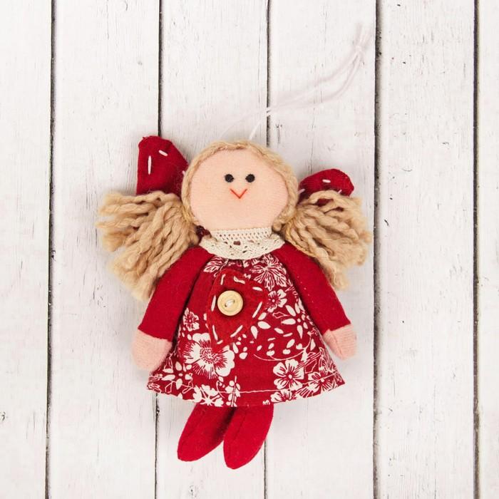 Кукла интерьерная «Ангел», сердце на платье, цвета МИКС
