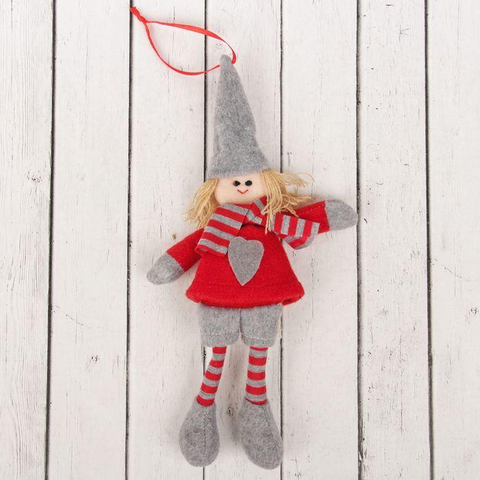 Кукла интерьерная «Гномик», в колпаке и шарфе, цвета МИКС
