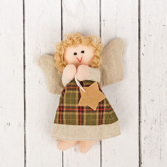 Кукла интерьерная «Ангелочек», блондинка, звезда в ручках, цвета МИКС