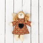 """Кукла интерьерная """"Ангелочек"""" с хвостиками, сердце на платье, цвета МИКС"""