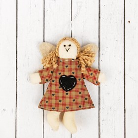 """Interior doll """"Angel"""" with tails, heart on dress, MIX color"""