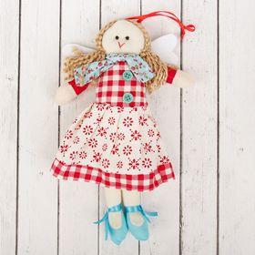 Кукла интерьерная «Ангелочек», с хвостиками и шарфиком, цвета МИКС
