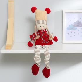 "Interior doll ""Winter clothes"" hanging legs, species MIX M13120AB"