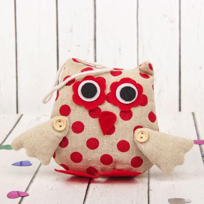 Мягкая игрушка-подвеска «Совушка», большие глазки, цвета МИКС