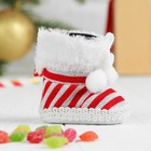 """Gift package """"Boot"""" knitted with bow"""