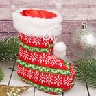 "Gift package ""Boot"" knit bow with POM-POM"