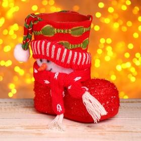 Подарочная упаковка «Сапожок», снеговик в Донецке