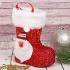 """Подарочная упаковка """"Сапожок"""" Дед Мороз, красный цвет"""