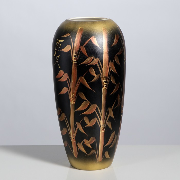 "Ваза напольная ""Аурика"", бамбук, чёрная, 44 см, микс, керамика"
