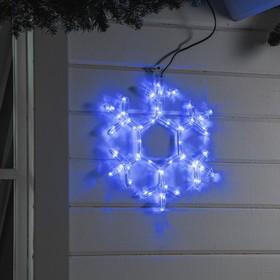 Фигура дюралайт 'Снежинка' 39х39 см,72/12 LED, СИНИЙ-БЕЛЫЙ Ош