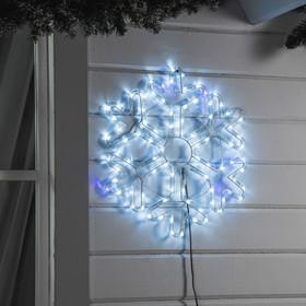 Фигура дюралайт 'Снежинка' 52х52 см,96/16 LED, БЕЛЫЙ-СИНИЙ Ош