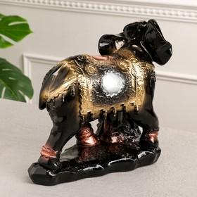 """Сувенир """"Слоны семья"""" 26 см, черный - фото 1701316"""