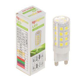 Лампа светодиодная G9, 220V, 4 Вт, 6000 K, 320° сверхяркая 110 lm/w, прозрачная