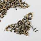 "Уголок металл ""Узорчатый"" бронза набор 4 шт 4,5х4,5 см"