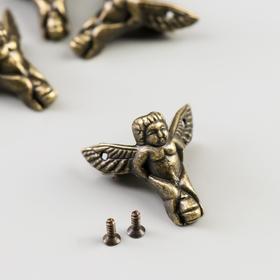 Area (feet) for box metal angel set 4 pieces bronze 2,3x2,6x1 cm