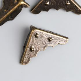 "Area the metal ""Plant"" bronze set of 4 PCs 4x4 cm"
