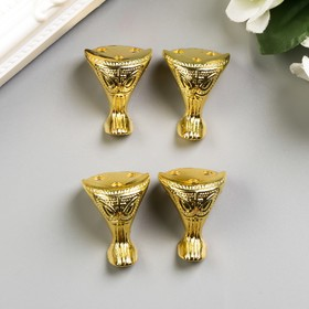 """Area (feet) for box metal """"Imperial"""" 4 piece set gold 2,5x2,2 cm"""