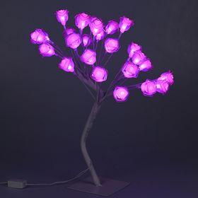 """Светодиодный куст улич. 0.45 м, """"Розы"""", 28 LED, 220V, РОЗОВЫЙ"""